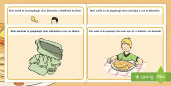 Pancake Tuesday Playdough Mats Gaeilge - pancake day, pancake tuesday, shrove tuesday, pancake, gaeilge, playdough mat