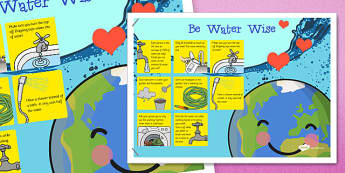 Water Conservation Poster - water, conservation, poster, display, science
