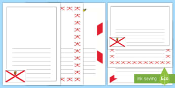 Jersey Flag Page Border Pack - Jersey Flag Page Borders - writing,write, literacy, independent, template, frame, channel islands,pa