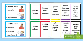 Working Memory Word Cards  - memory, short term, long term, cognitive, improvements, scale,Scottish