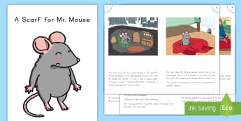 A Scarf for Mr. Mouse  Guided Reader - Guided Reading, Winter, Reading, Small Group, Problem And Solution, Fractured Fairytale, Comprehensi
