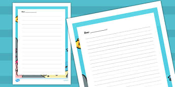 Letter Writing Frames to Support Teaching on Commotion in the Ocean - ocean, letter, writing