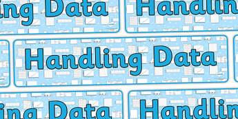 Handling Data Display Banner - handling data, handling data banner, handling data display, ks2 handling data, data, data display, ks2 maths, ks2 numeracy