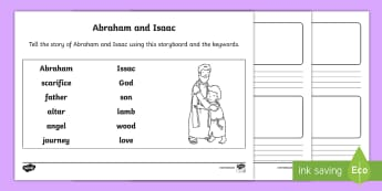 Abraham and Isaac Storyboard Activity Sheet - bible stories, old testament, retelling a story, christianity, judaism, worksheet, religion, r.e