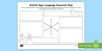 British Sign Language Research Map - sign language week, deaf education, deaf culture, sign system, makaton, deaf community, deaf culture