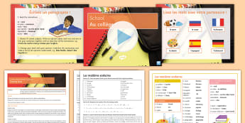 School Subjects Cover Work Lesson Pack French - Subjects, education, opinions, connectives, supply,French