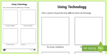 CfE Using Technology Worksheet / Activity Sheet - CfE Digital Learning Week,8th May 2017, Worksheet,  Digital learning and teaching strategy technolog