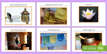 Buddhist Artefacts Photo Pack - Buddhist, Buddha, artefacts, prayer, discussion prompts, display, religious education