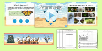 Symmetry PowerPoint Pack - UAE, General Resources, symmetry, maths, patterns, PowerPoint, pack, display banner, Islamic, art, a