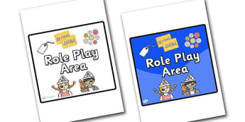 Role Play Area Sign - sign, display sign, area display sign, area sign, role play area, role play sign, role play poster, area, classroom areas, school areas, classroom area signs, topic signs, topic area signs