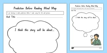 Prediction Before Reading Mind Map Worksheet / Activity Sheet, worksheet