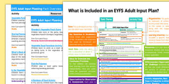 EYFS Adult Input Planning and Resource Pack to Support Teaching on Oliver's Vegetables Overview