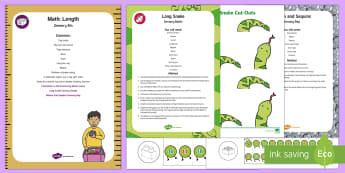 Maths: Length Sensory Bin and Resource Pack - Maths, Mathematics, length, Sensory Play, Long, Short, long,