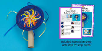 Paper Plate Catherine Wheel Craft Instructions - paper plate, catherine wheel, craft, instructions