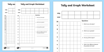 Tally and Graph Worksheet / Activity Sheet Template - tally template, graph template, tally and graph worksheet, tally and graph basic template, ks2 maths worksheet, tables