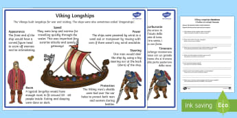 Vikings Longships Information and Comprehension Activity Sheets English/Italian - Vikings Longships Differentiated Reading Comprehension Activity - vikings, longships, comprehension,