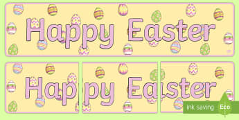 Happy Easter Display Banner - Australian Requests, easter display banners, display banners, happy easter banner, happy easter post