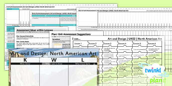 Art: North American Art UKS2 Unit Assessment Pack
