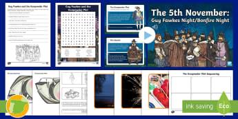 Guy Fawkes Lesson Pack - English culture, celebrations, festivals, November, remember, celebraciones, cultura británica, his