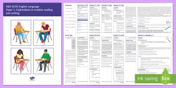AQA English Language P1 GCSE Exam Revision Booklet - English language GCSE Exam Papers, AQA, AQA revision, exam revision, practice questions, revision ma