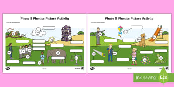 Phase 5 Phonics Picture Activity Sheet - Phase 5 Phonics Picture Hotspot - phase 5, phase, phonics, picture, picture, hotspot, phonics, activ