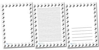 PE Kit Portrait Page Borders- Portrait Page Borders - Page border, border, writing template, writing aid, writing frame, a4 border, template, templates, landscape