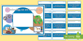 'We Are Learning To' Second Level Technology Display Poster - Learning Intentions, WALT, Benchmarks, Shared Learning Intentions, Success Criteria,Scottish