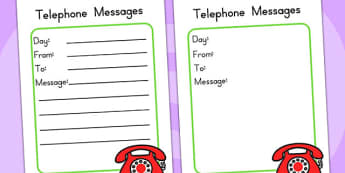 Minibeasts Investigation Telephone Message Pad - role play, props