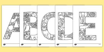 Uppercase Alphabet Themed Mindfulness Colouring Sheets - mindfulness