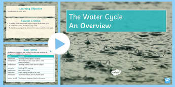 Water Cycle Overview PowerPoint - Secondary - Geography - Water Cycle