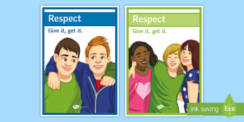 Respect A4 Display Poster - respect, Behaviour, classroom management, motivation, poster, display