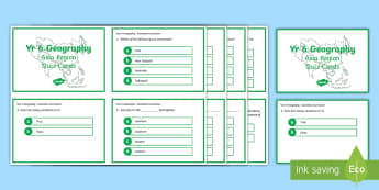Year 6 AC Geography Asian Region Quiz Cards - ACHASSK138, prior knowledge, formative assessment,Australia