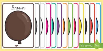 Farbnamen für die Klassenraumgestaltung - Farbnamen für die Klassenraumgestaltung, Farben, Farbnamen, Farberkennung, Farben Klassenraumgestal