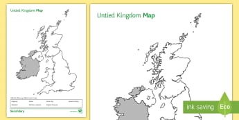 United Kingdom Map Activity Sheet - Atlas, map outline, country names, UK, Identify, worksheet