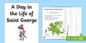 St. George's Day Creative Activity Sheet - KS1, Key Stage One, Year 1, Year 2, Year One, Year Two, St George, Saint George, Saint George's Day