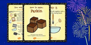 Parkin Recipe Cards - Parking, Recipe, Cards, Sponge, Cake