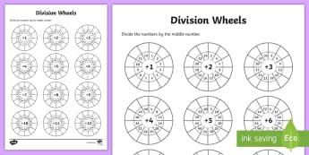 ks division primary resources division ks division dividing  division wheels worksheet