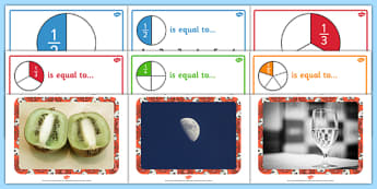 Fractions Display Pack Year 2 - fractions, display pack, year 2