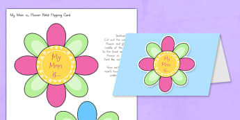 Mother's Day Flap Flower Card - usa, mothers, day, flap, flower, card