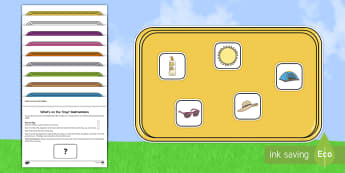 What's on the Tray Summer Memory Activity Pack - Summer, Holiday, Memory Game, Working Memory, Teachers of the Deaf, deaf friendly, deaf, hearing imp