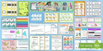 LKS2 Maths Working Wall Display Pack - posters, strategies, tips, reminders, charts