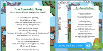 In a Spaceship Song to Support Teaching on Aliens Love Underpants  - EYFS, Early Years, Aliens Love Underpants, Claire Freedman, space, aliens, singing, songs, space,