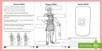 Roman Soldiers Worksheet - romans, roman soldiers, roman history, roman worksheet, roman soldiers worksheet, roman soldiers clothing, ks2 history, soldiers