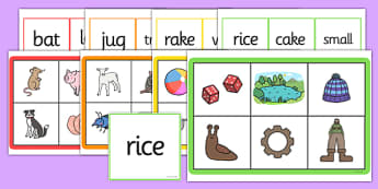 Rhyming Pictures Matching Word Mats-rhyming, rhyme, matching words, matching pictures, matching games, word mats, rhyming word mats, literacy