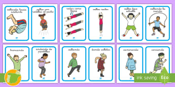 PE Physical Action Word and Picture Display Posters - Spanish - PE Physical Action Word and Picture   Display Posters,Spanish,Spanish