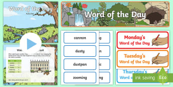 Year 1 Spring 2 Word of the Day Pack - Vocabulary, Spelling, SPaG, writing, nouns, adjectives, compound words, suffixes, multisyllabic word