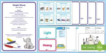 Weight Quiet Time Box - measurement, Maths, Basic Skills, Independent activities, early years, special Educational Needs