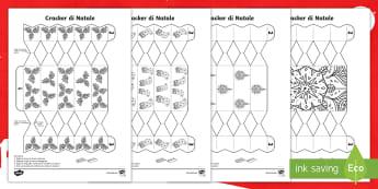 Crea dei cracker di Natale Attività - gioco, decorazione, natalizio, festivo, italiano, italian, materiale, scolastico