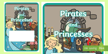 'Pirates and Princesses Themed Book Cover - pirates, book cover, display, lesson, book, cover
