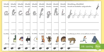 Arbeitsblatt für Buchstabensetzung - Buchstaben, erstes Schreiben, Buchstaben erkennen, Alphabet, ABC, erstes Lesen